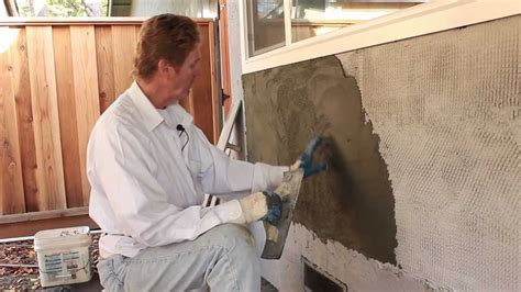 Trowel Stucco to look Like Poured Concrete - YouTube