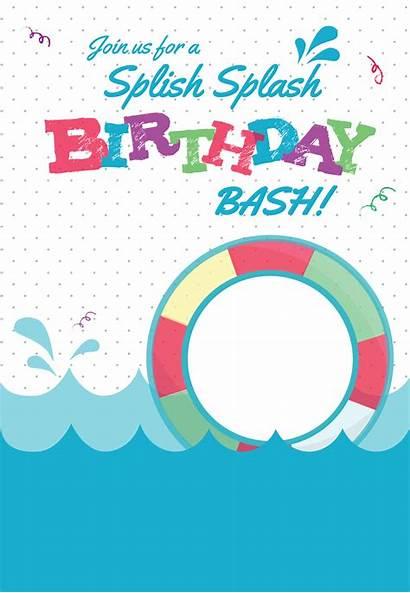 Invitation Pool Splash Splish Template Printable Invitations