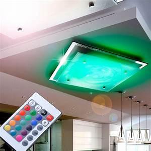 Led Deckenleuchte Rgb : led 14 watt decken rgb farbwechsler dimmer fernbedienung lampe muster metall glas kaufen bei ~ Watch28wear.com Haus und Dekorationen