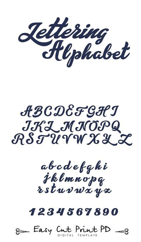 lettering script alphabet letters svg dxf vector cut files etsy
