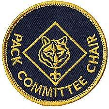 cub scout committee chair patch placement pack committee chair emblem