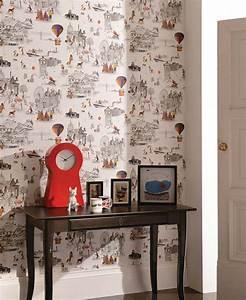 Papier Peint Bébé Garcon : du papier peint pour une chambre d 39 enfant frenchy fancy ~ Nature-et-papiers.com Idées de Décoration