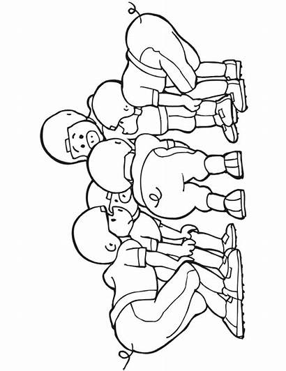 Coloring Football Team Huddle Pig College Clip
