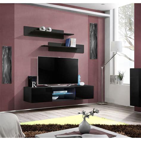 meuble tv mural design quot fly iii quot 160cm noir