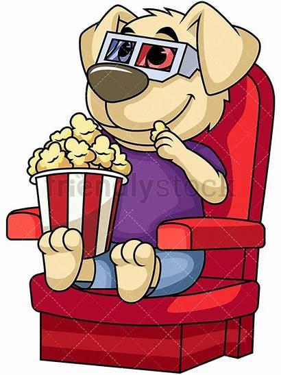Cartoon Movie Clipart Watching Dog Character Mascot