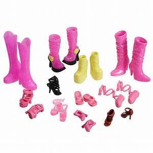 High Heel Boot Ankle Strap Shoes Accessories For Barbie