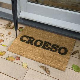 Croeso Doormat by Mat Drws Croeso Welcome Door Mat 163 18 00 Adra Adrahome