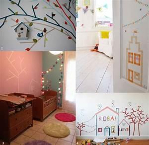 votre deco chambre bebe avec masking tape diy tendance With chambre bébé design avec bouquet naissance