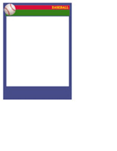 Baseball Card Templates  Free, Blank, Printable, Customize