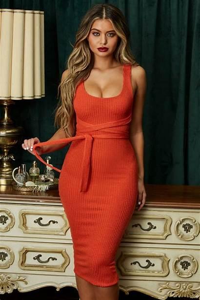 Sofia Jamora Ohpolly Celebzz Orange Midaxi Scoop