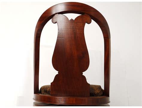 dossier de chaise superbe chaise de harpiste charles x acajou dossier lyre