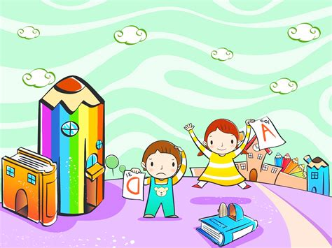Kids Education School Ppt Backgrounds