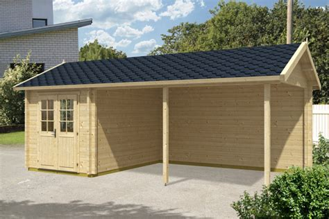 Carport With Shed by Wooden Carport Arthur With Tool Shed 21m 178 70mm 3 5 X 7