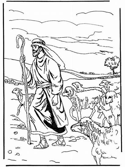Shepherd Coloring Pages Psalm Colouring Sheets Jesus