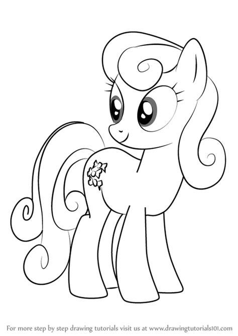 step  step   draw sweetie drops    pony friendship  magic