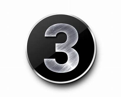 Number Metal Numbers Template Psd Psdgraphics Number3