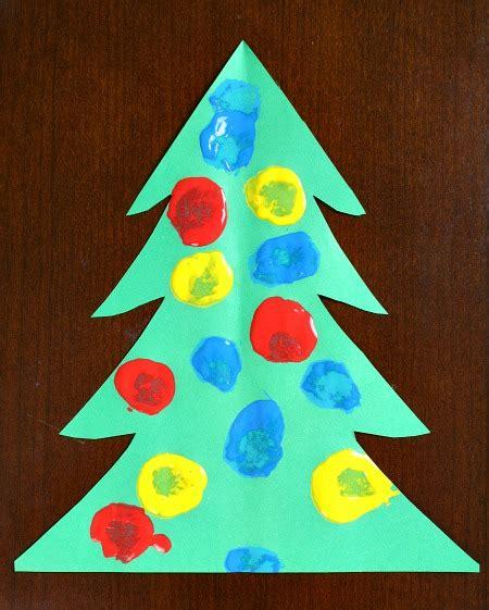 pom pom painting christmas tree craft  toddlers