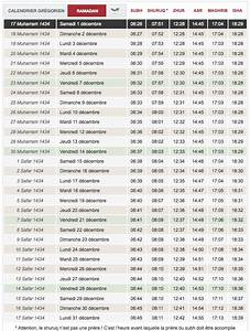Heure De Priere A Marseille : horaire de pri re votre calendrier du mois de d cembre ~ Medecine-chirurgie-esthetiques.com Avis de Voitures