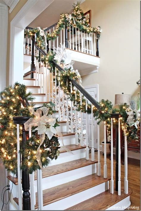Banister Garland Ideas by 25 Best Ideas About Stair Garland On