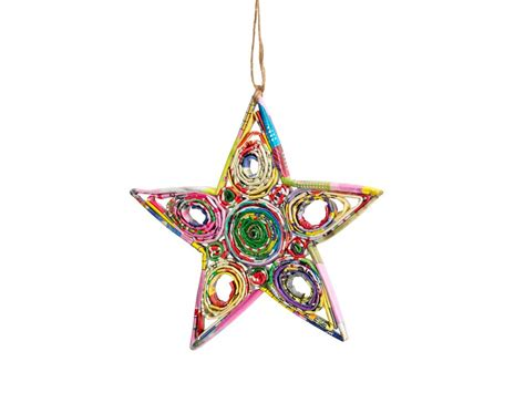 paper ornaments recycled paper ornament star