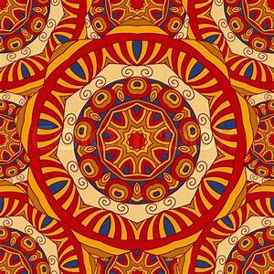 Seamless colorful vector ethnic ornate background. Islam ...