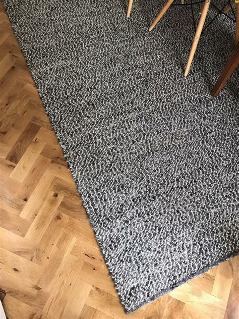 Holz Teppich Ikea by Ikea Basnas Large Wool Rug 300x200cm Grey Black White