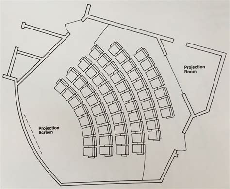 Theatre Style Seating Plan Template by This Auditorium Seating Layout And Dimensions Will Give