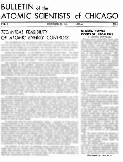 Bulletin of the Atomic Scientists Covers