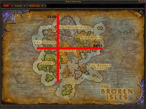 Size of Broken Isles (continent) measured and compared
