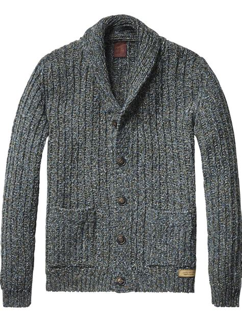 mens chunky knit sweater chunky knit cardigan pullover 39 s clothing at scotch