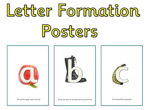 alphabet display posters rwi phonics letter formation