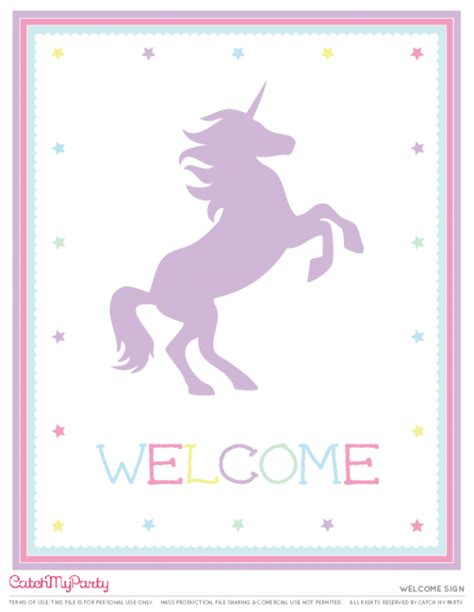 the best free unicorn birthday printables catch my