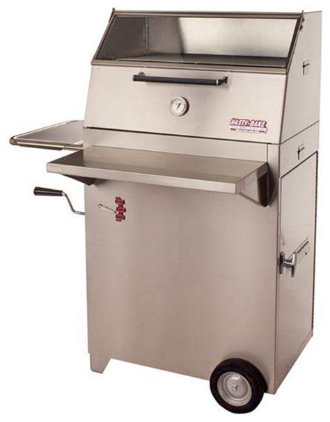 modern outdoor grill hasty bake continental 84 stainless steel charcoal grill modern outdoor grills by