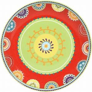 Lot D Assiette Pas Cher : lot de 6 assiettes plates 27 cm caracas rouge novastyl pas cher prix auchan ~ Melissatoandfro.com Idées de Décoration