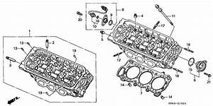 Front Cylinder Head  V6  For 2001 Honda Accord Coupe