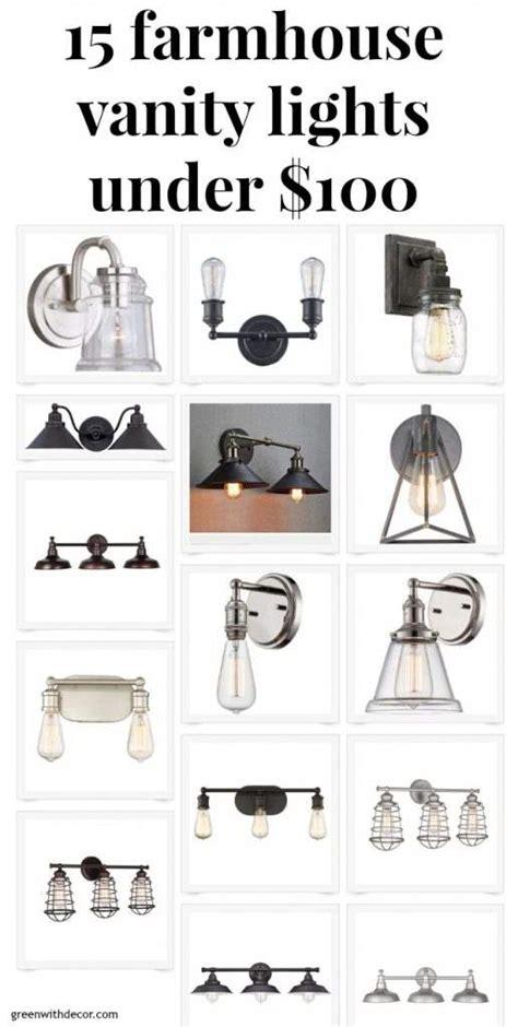 green  decor  farmhouse vanity lights