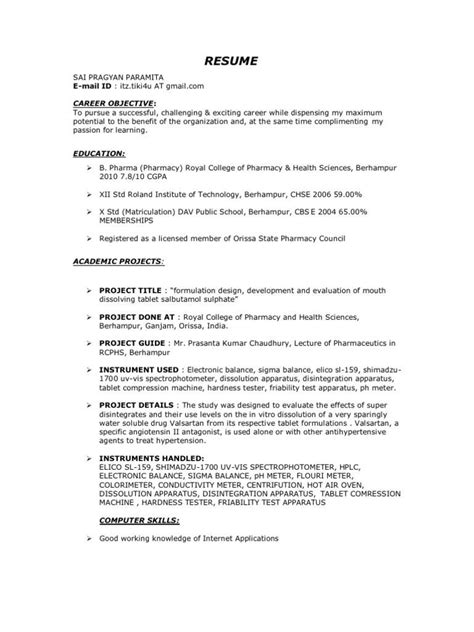 pharma resume format resume format resume format