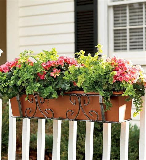 deck rail planters deck rail planters self watering woodworking projects