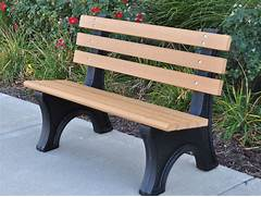 Comfort Park Avenue Bench By Jayhawk Plastics  Outdoor Benches For Parks  A