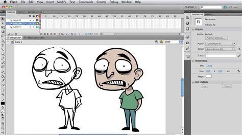 flash draw  cartoon character  animation part