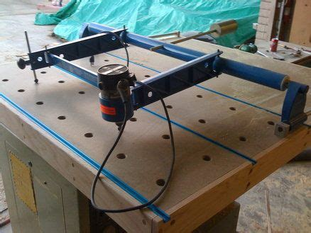 homemade carving duplicator  woodworking wood router