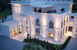 White, Modern, Islamic, Villa, Exterior, Design, By, Comelite
