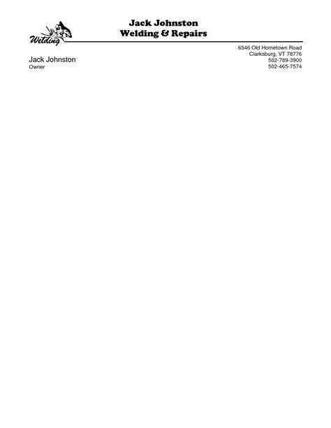 word document business letterhead template