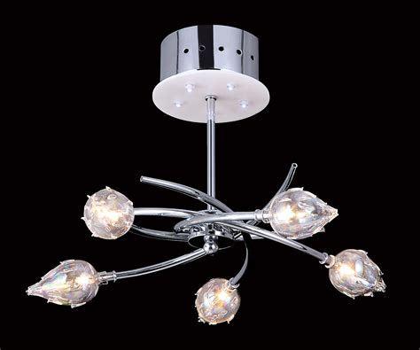 evrosvet 10 light chrome ceiling fixture w plastic bulb
