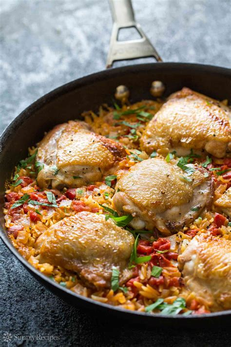 one pot chicken and orzo recipe simplyrecipes