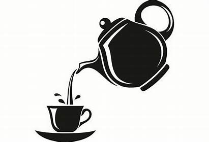 Tea Pouring Cup Kettle Pot Into Mug