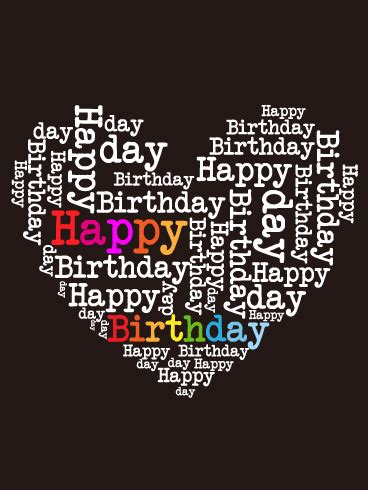 happy birthday heart card birthday greeting cards  davia