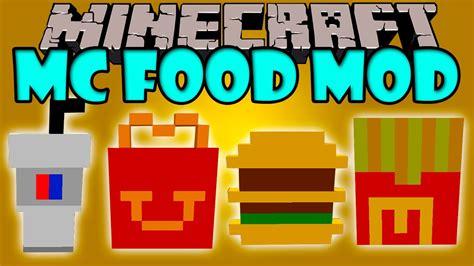 mod鑞es cuisines mc food mod comida rapida de mcdonald 39 s minecraft mod 1 8 review español