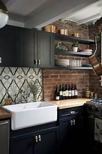noir blanc attachement d39evier de cuisine bois worktop With kitchen cabinet trends 2018 combined with hot rod wall art