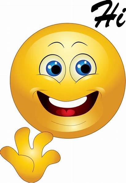 Hi Emoticon Smiley Yellow Happy Clipart I2clipart